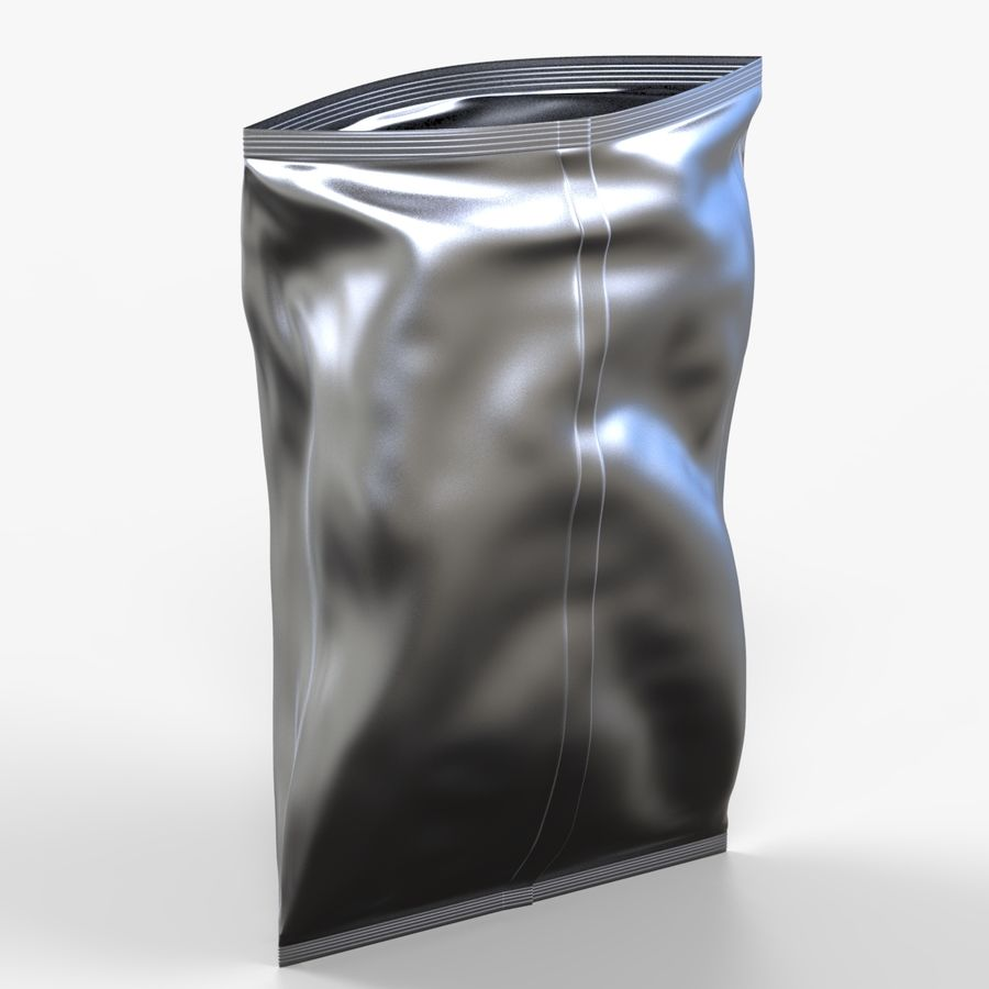2 Bags Packaging royalty-free 3d model - Preview no. 3