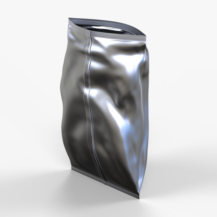 2 Bags Packaging royalty-free 3d model - Preview no. 4
