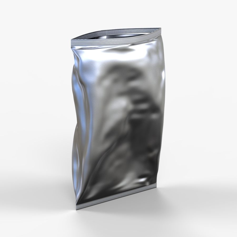 2 Bags Packaging royalty-free 3d model - Preview no. 5