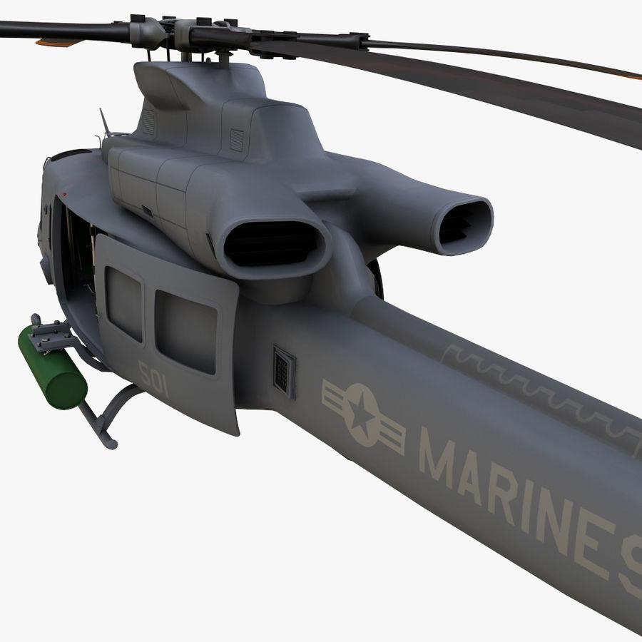 贝尔UH-1Y毒液 royalty-free 3d model - Preview no. 6