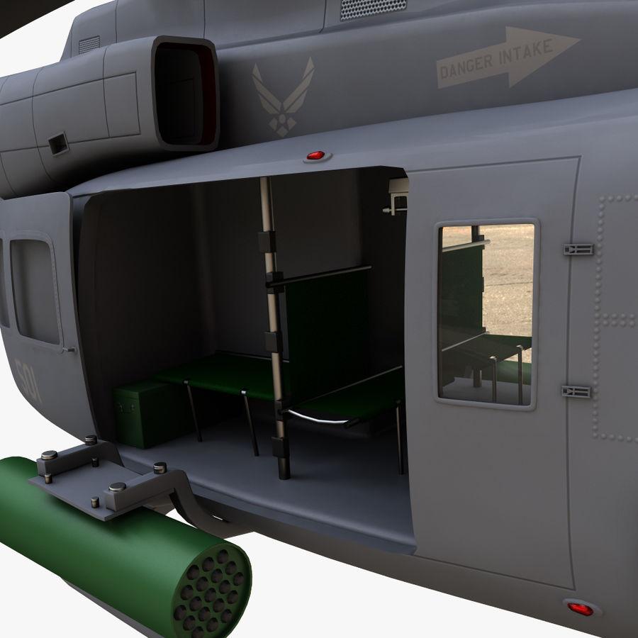 贝尔UH-1Y毒液 royalty-free 3d model - Preview no. 8