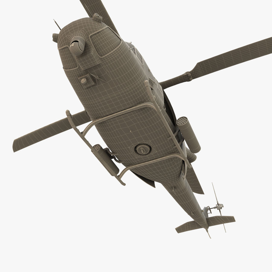 贝尔UH-1Y毒液 royalty-free 3d model - Preview no. 20