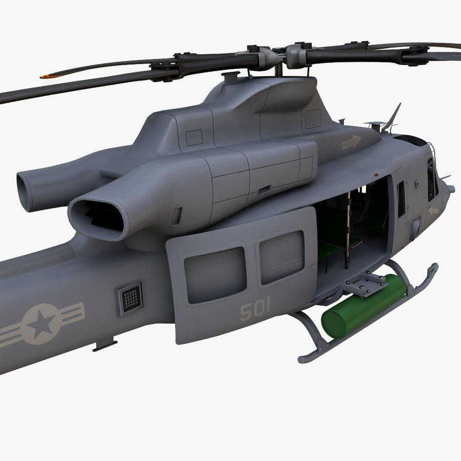 贝尔UH-1Y毒液 royalty-free 3d model - Preview no. 7