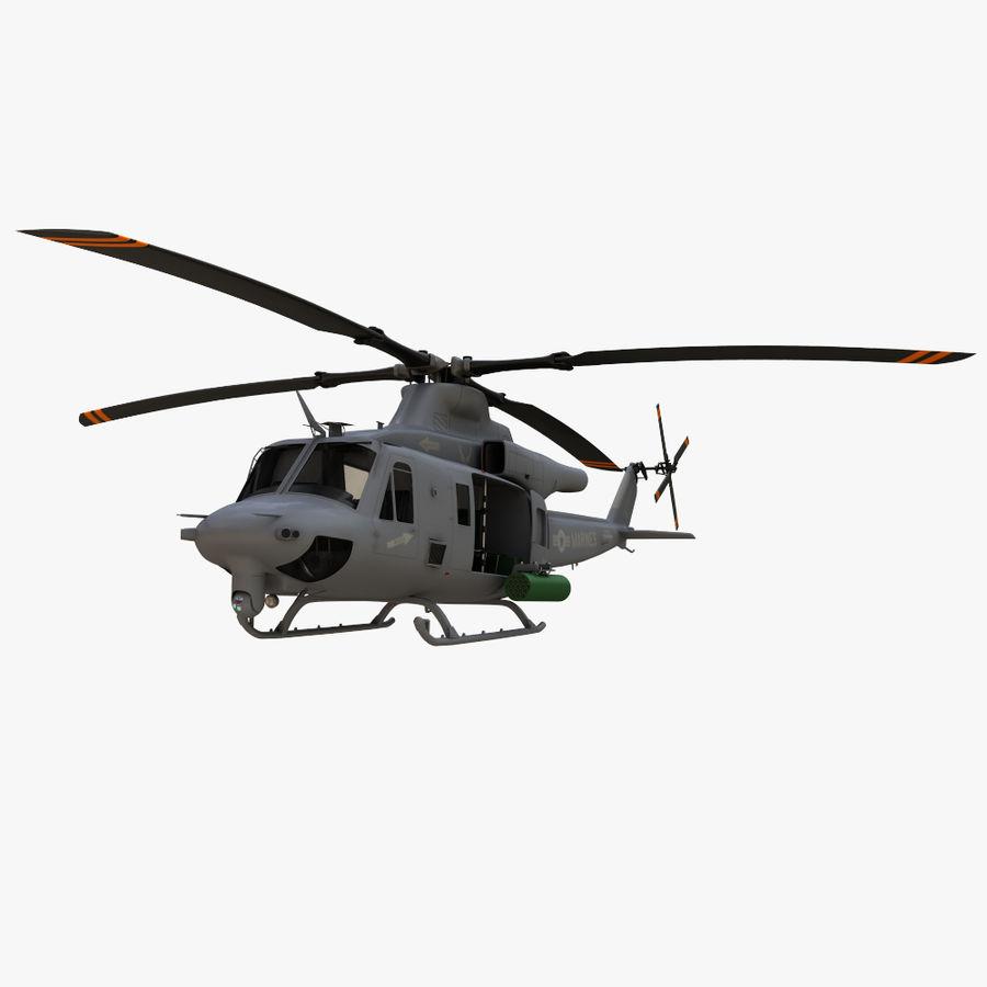 贝尔UH-1Y毒液 royalty-free 3d model - Preview no. 3