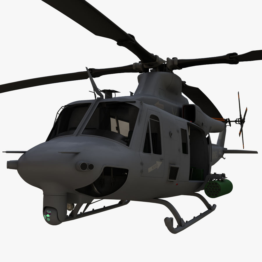 贝尔UH-1Y毒液 royalty-free 3d model - Preview no. 1