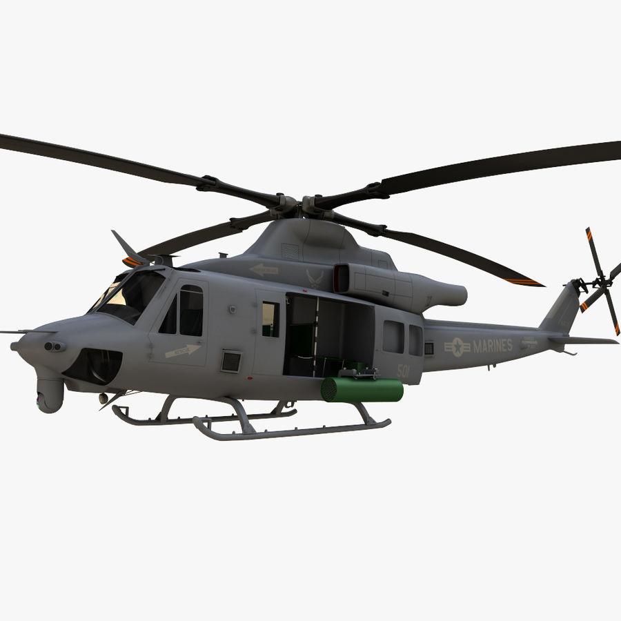 贝尔UH-1Y毒液 royalty-free 3d model - Preview no. 4