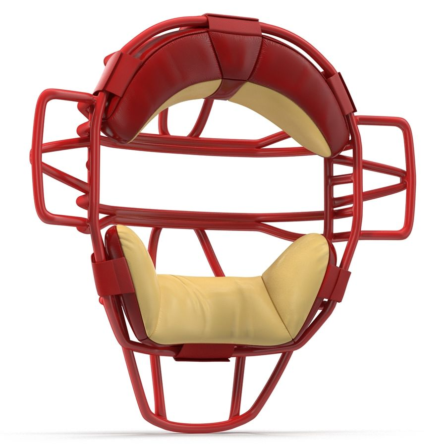 Catchers Face Mask Mizuno royalty-free 3d model - Preview no. 8