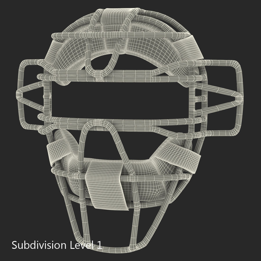 Catchers Face Mask Mizuno royalty-free 3d model - Preview no. 17