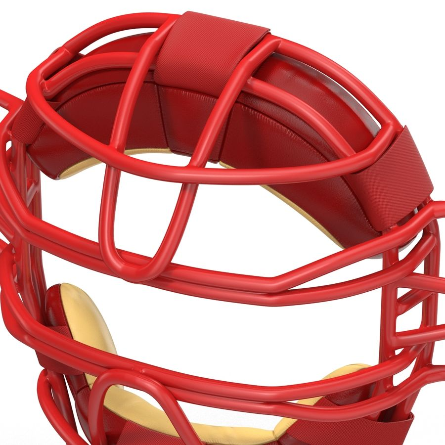 Catchers Face Mask Mizuno royalty-free 3d model - Preview no. 14
