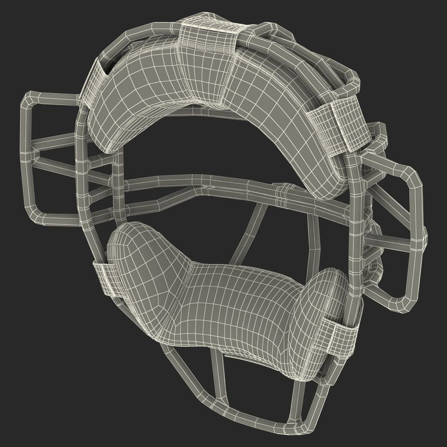 Catchers Face Mask Mizuno royalty-free 3d model - Preview no. 24