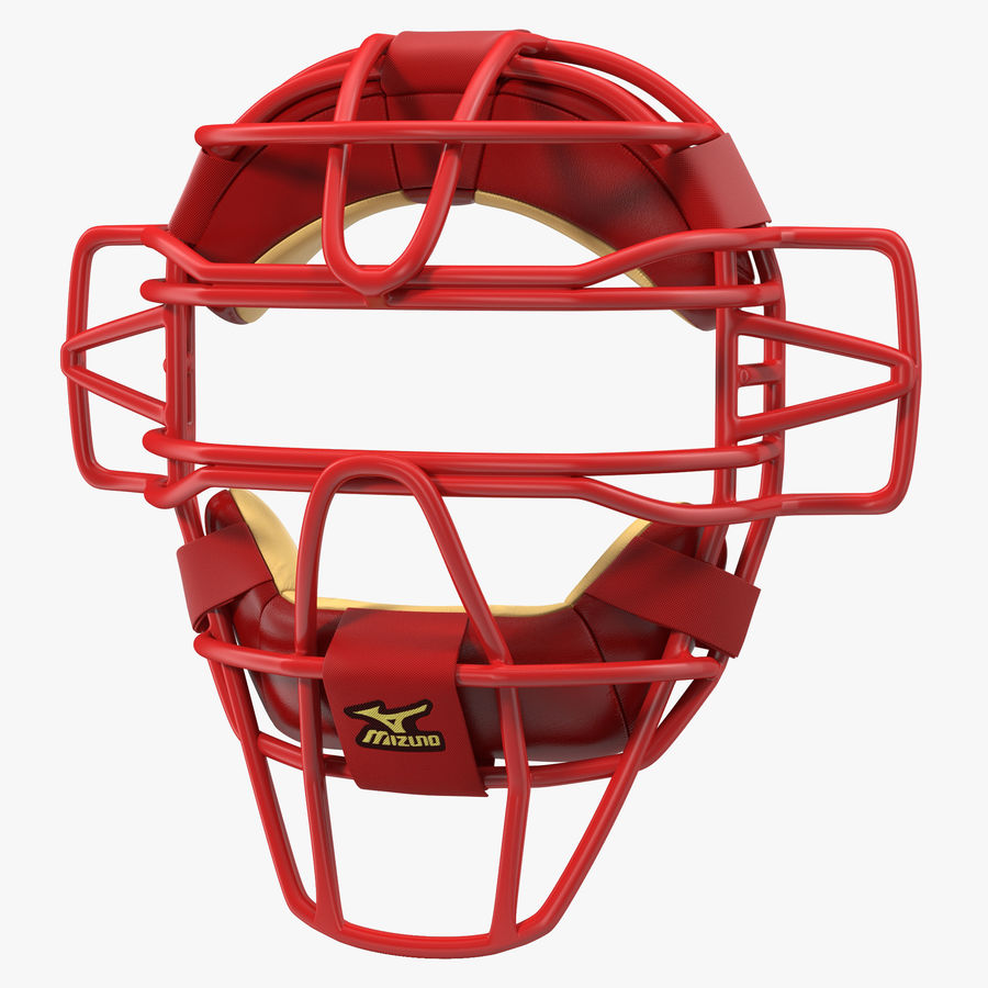Catchers Face Mask Mizuno royalty-free 3d model - Preview no. 1