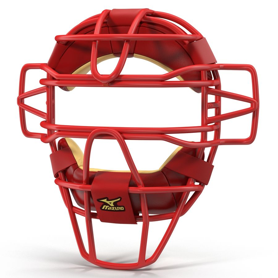 Catchers Face Mask Mizuno royalty-free 3d model - Preview no. 2