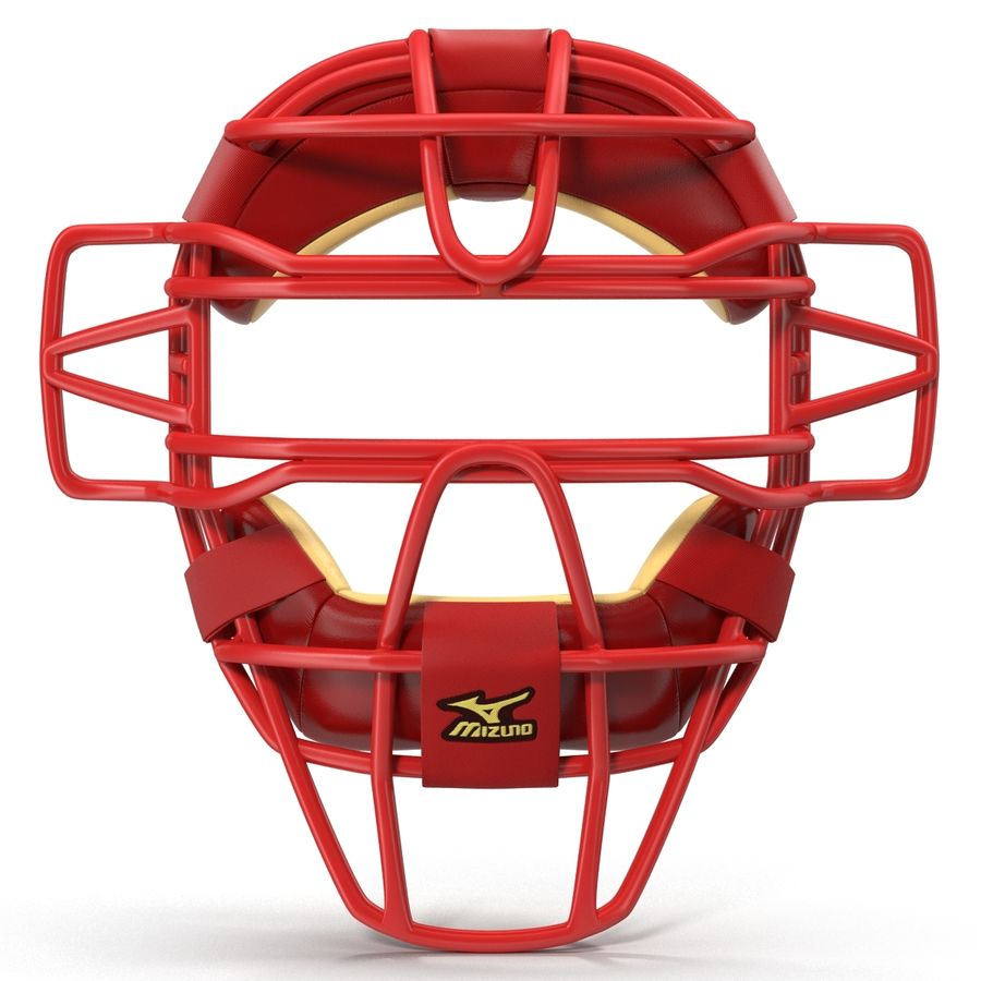 Catchers Face Mask Mizuno royalty-free 3d model - Preview no. 3