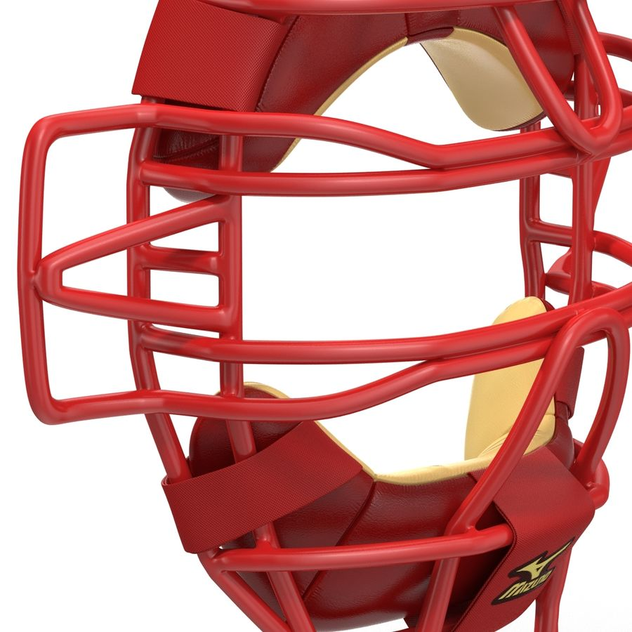 Catchers Face Mask Mizuno royalty-free 3d model - Preview no. 12