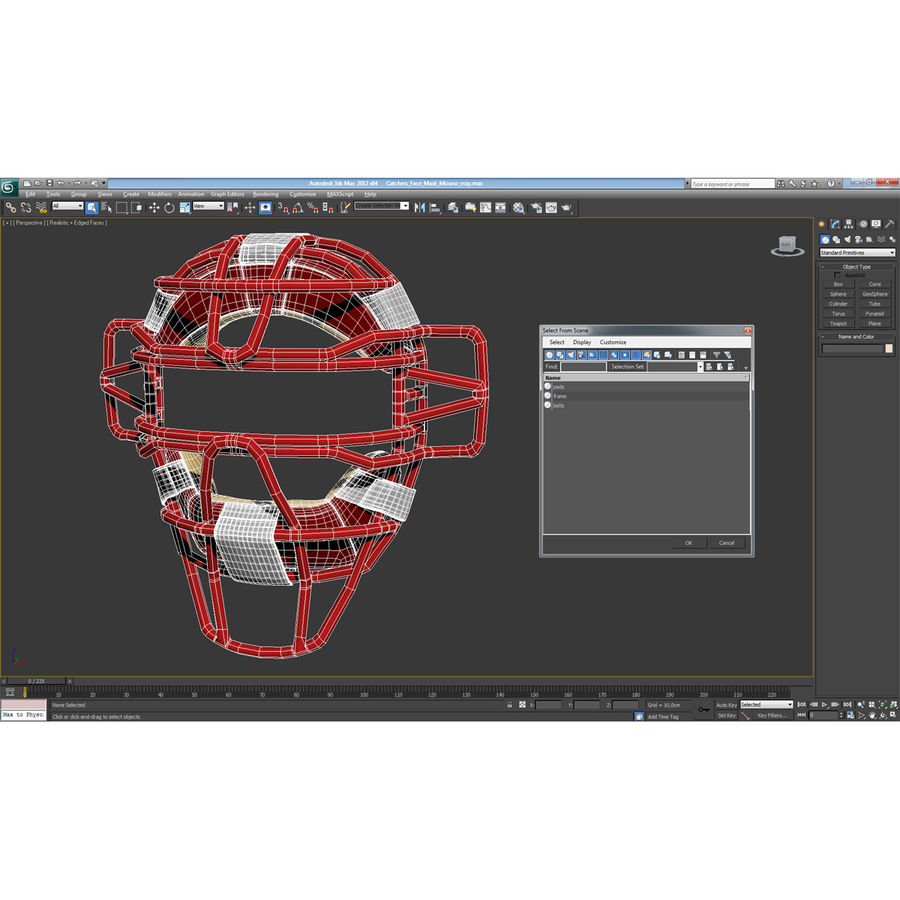 Catchers Face Mask Mizuno royalty-free 3d model - Preview no. 21