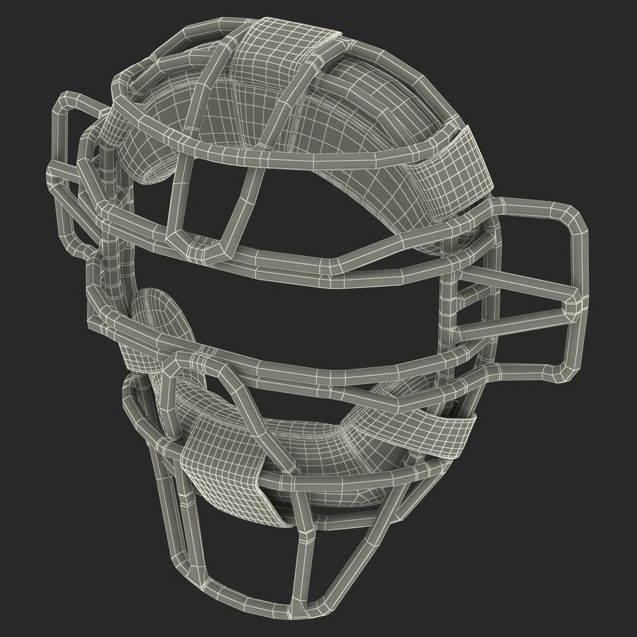 Catchers Face Mask Mizuno royalty-free 3d model - Preview no. 22