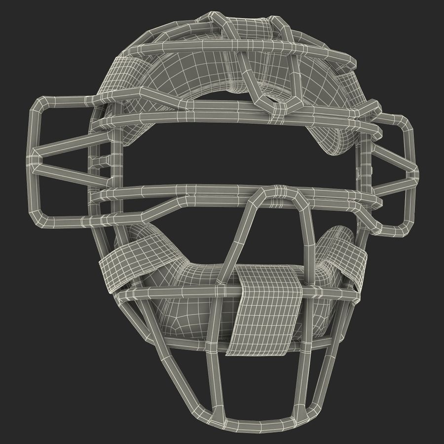 Catchers Face Mask Mizuno royalty-free 3d model - Preview no. 23