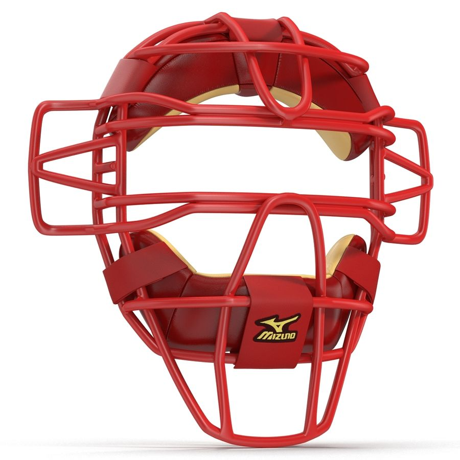 Catchers Face Mask Mizuno royalty-free 3d model - Preview no. 6