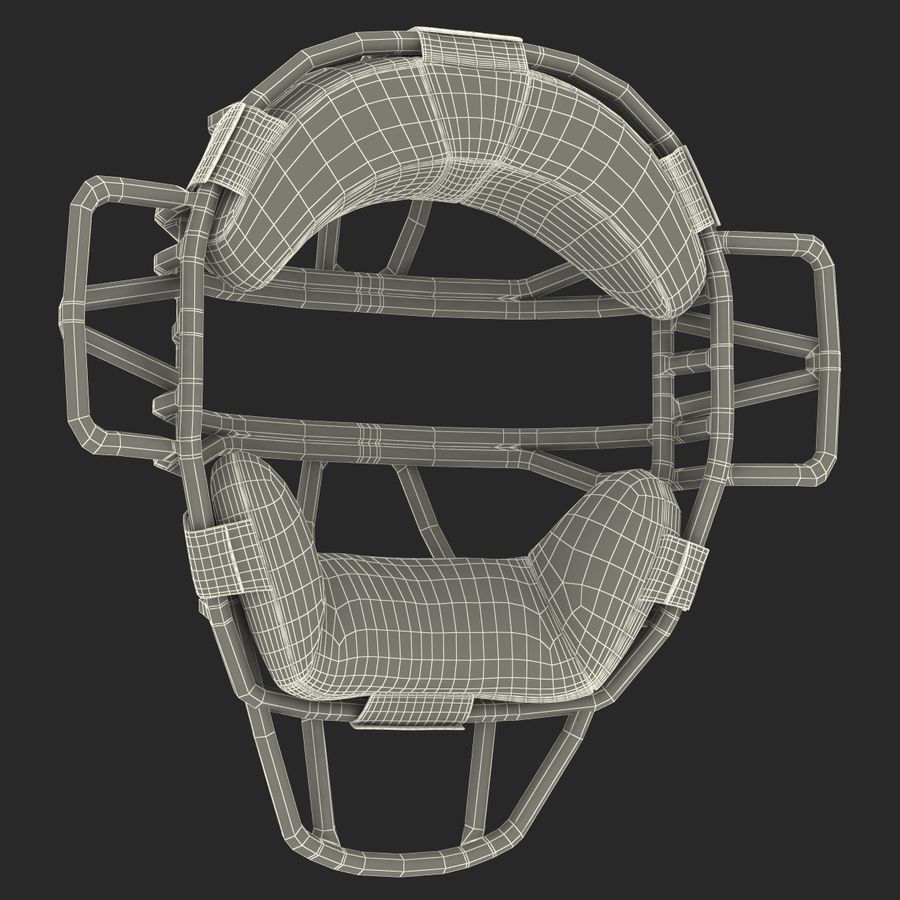 Catchers Face Mask Mizuno royalty-free 3d model - Preview no. 25