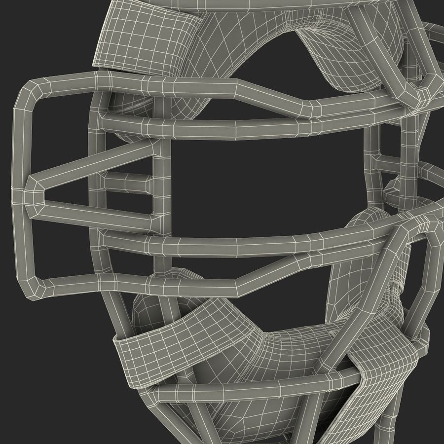 Catchers Face Mask Mizuno royalty-free 3d model - Preview no. 29