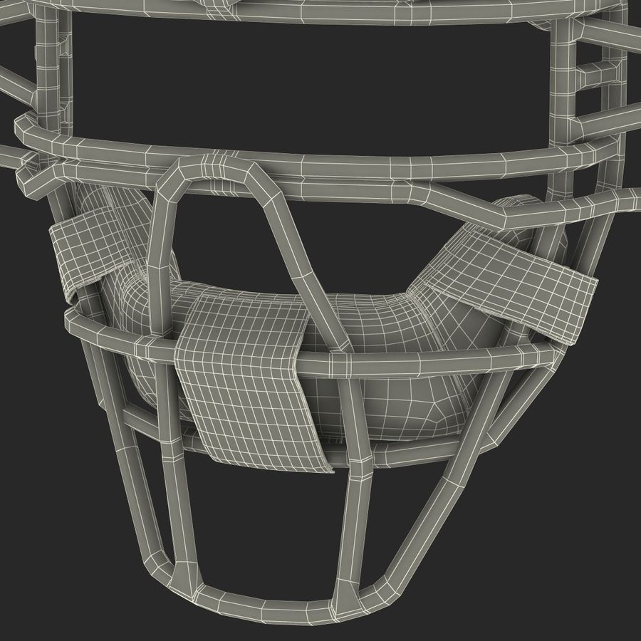 Catchers Face Mask Mizuno royalty-free 3d model - Preview no. 27