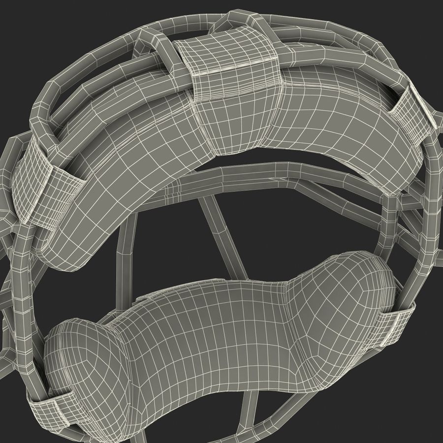 Catchers Face Mask Mizuno royalty-free 3d model - Preview no. 32