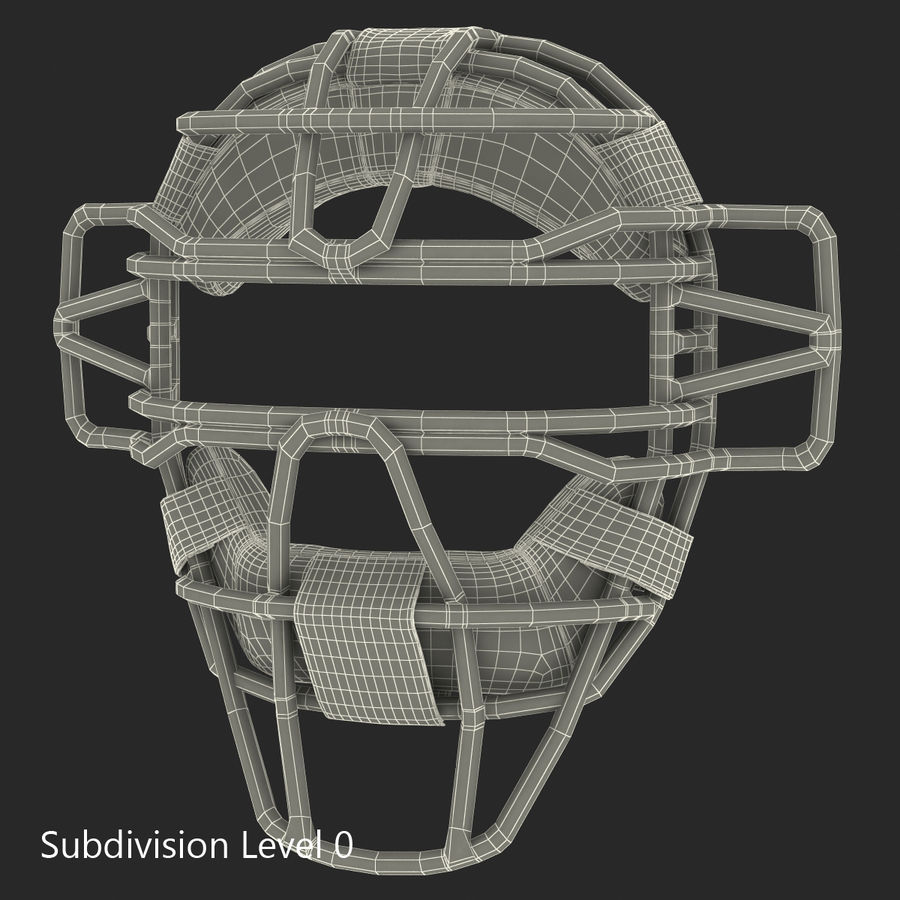 Catchers Face Mask Mizuno royalty-free 3d model - Preview no. 16