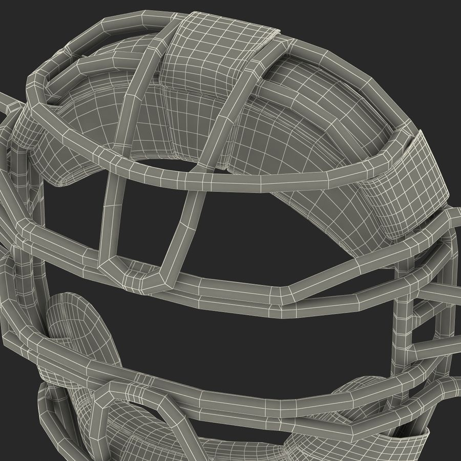 Catchers Face Mask Mizuno royalty-free 3d model - Preview no. 31