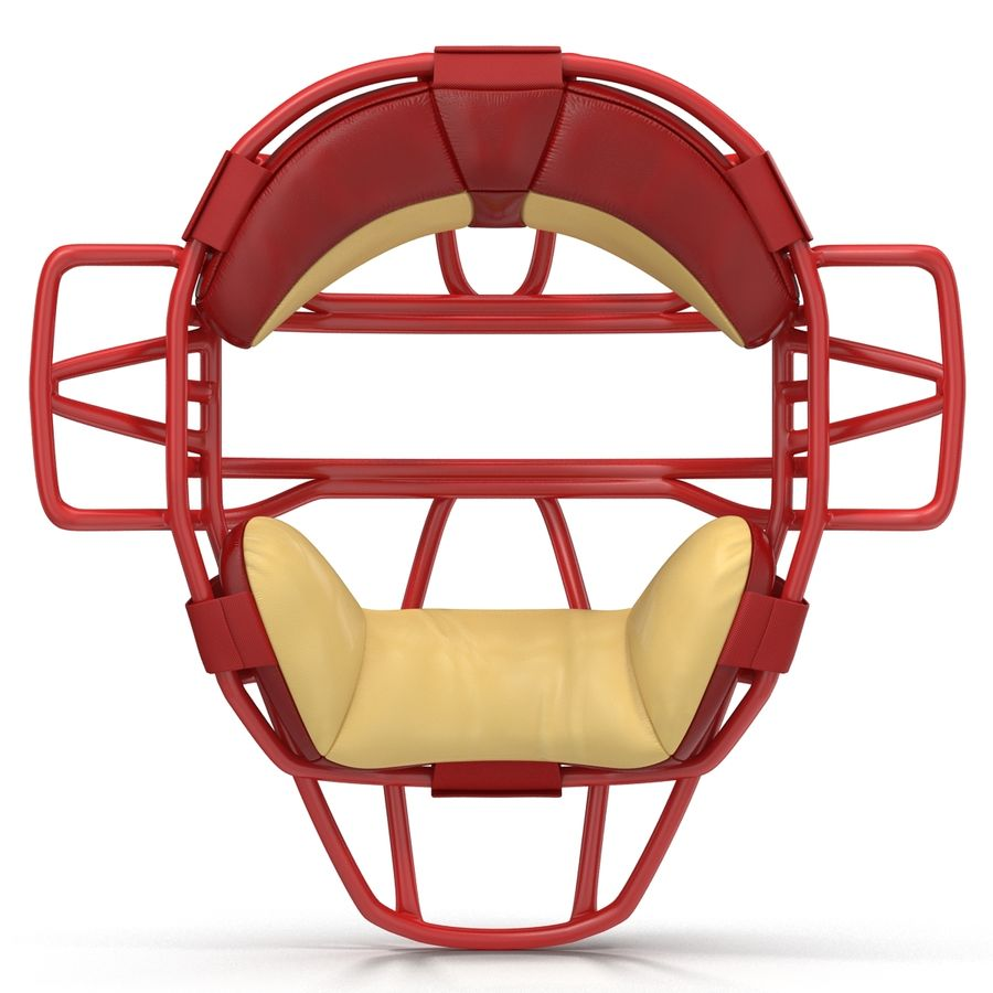 Catchers Face Mask Mizuno royalty-free 3d model - Preview no. 4