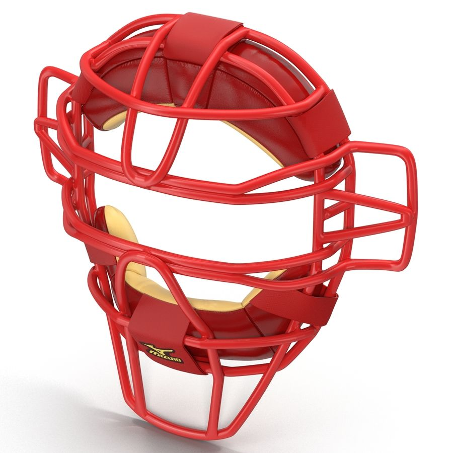 Catchers Face Mask Mizuno royalty-free 3d model - Preview no. 5