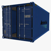 20 Foot Storage Container 3d model