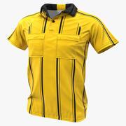 Jersey de árbitros amarillos modelo 3d