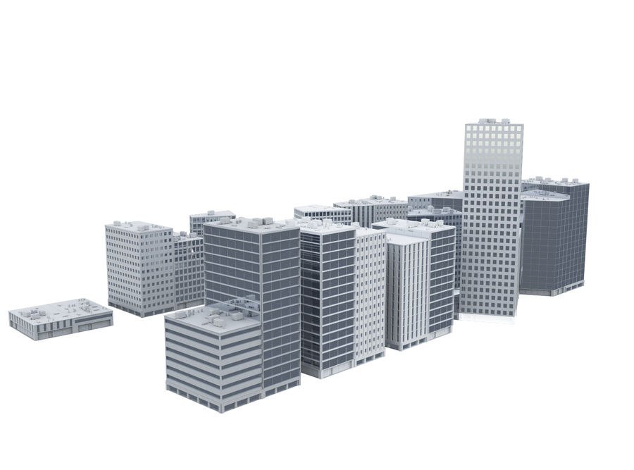 City block royalty-free 3d model - Preview no. 3