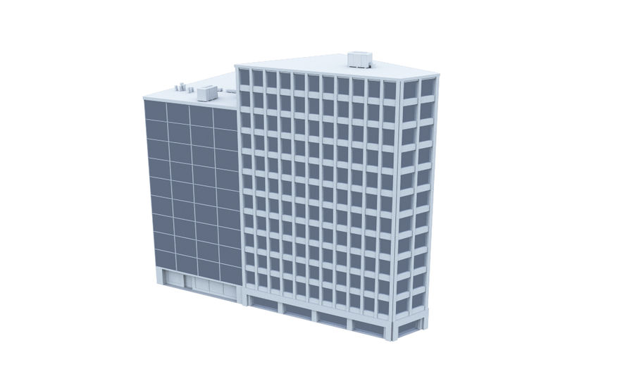 City block royalty-free 3d model - Preview no. 12