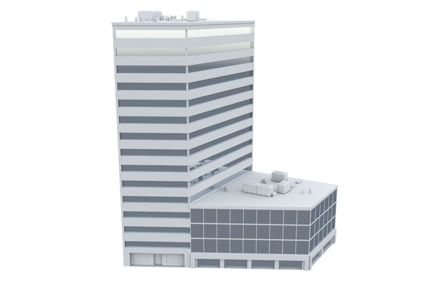 City block royalty-free 3d model - Preview no. 15