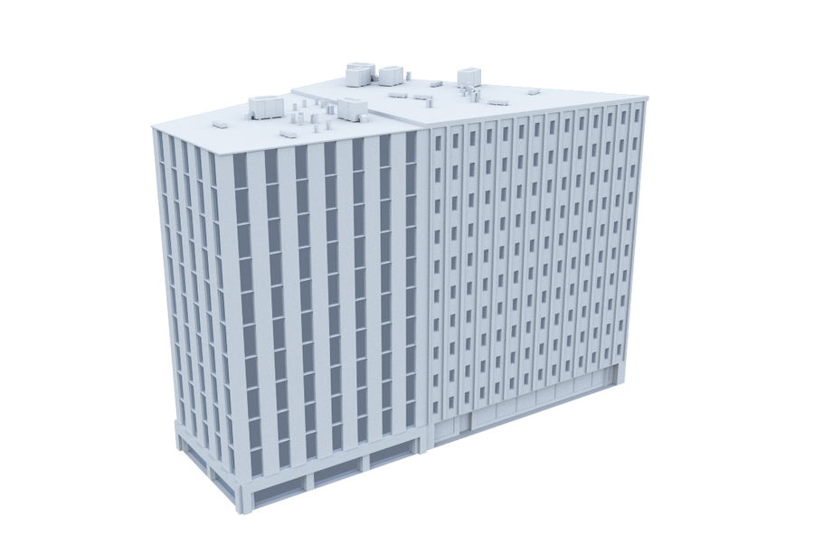 City block royalty-free 3d model - Preview no. 10
