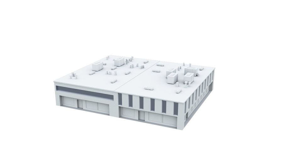 City block royalty-free 3d model - Preview no. 14