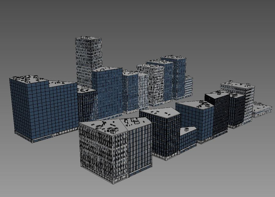 City block royalty-free 3d model - Preview no. 4