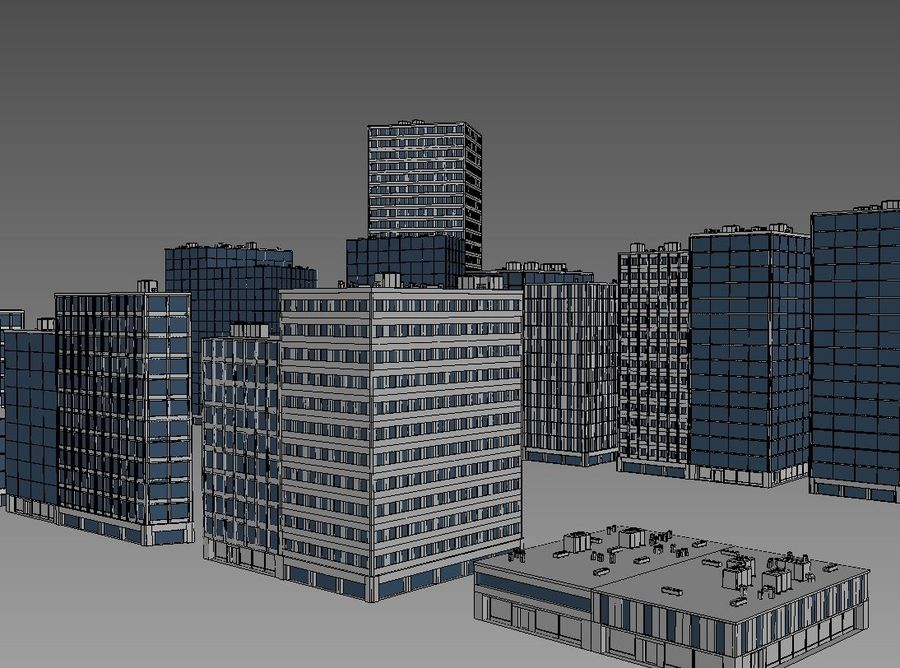 City block royalty-free 3d model - Preview no. 5