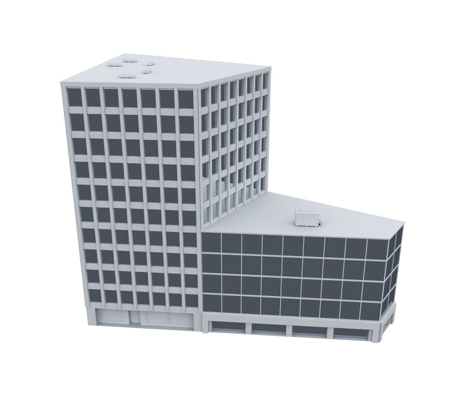 City block royalty-free 3d model - Preview no. 7