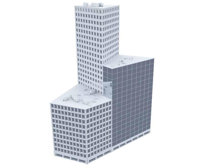 City block royalty-free 3d model - Preview no. 9
