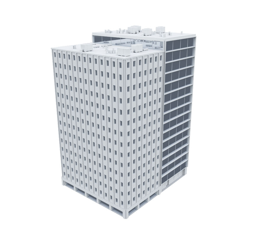 City block royalty-free 3d model - Preview no. 8