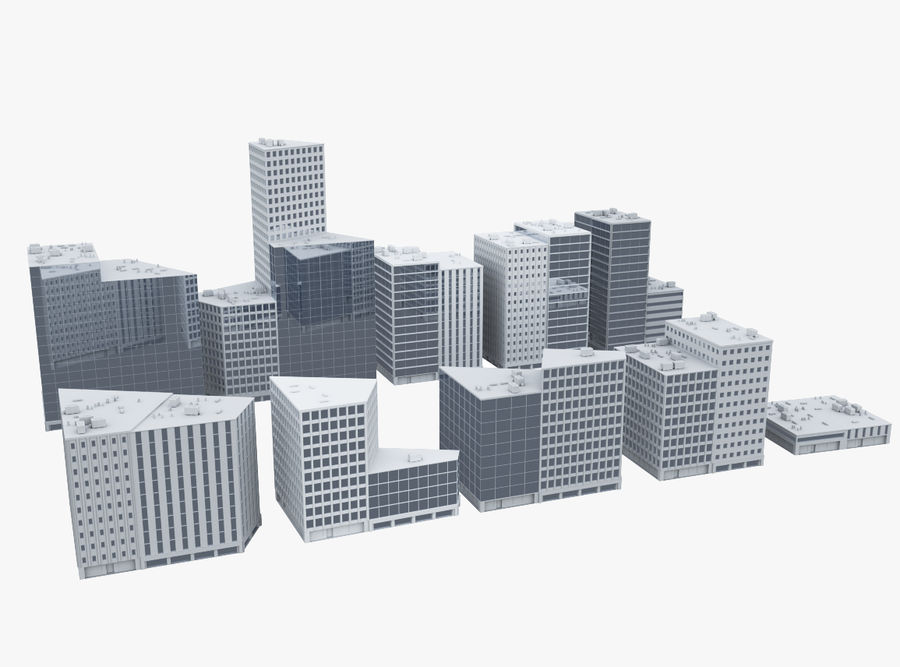 City block royalty-free 3d model - Preview no. 1