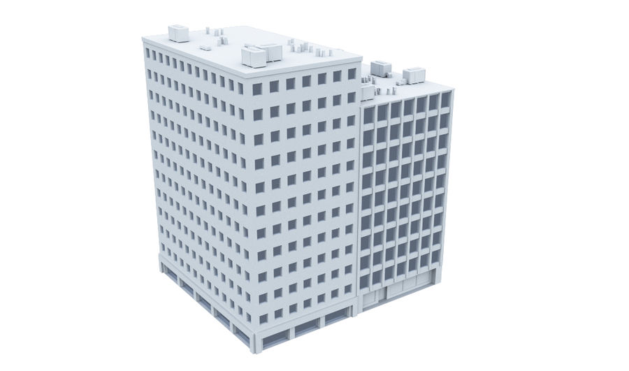 City block royalty-free 3d model - Preview no. 13