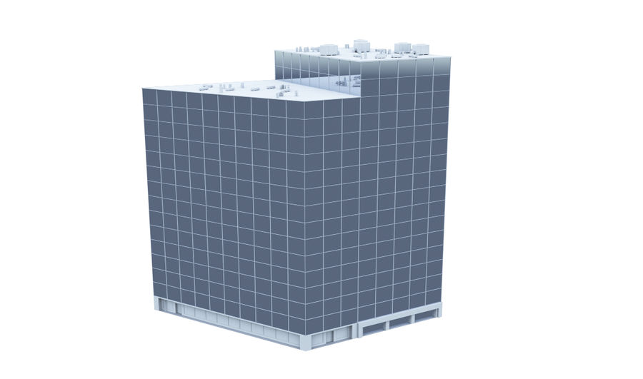 City block royalty-free 3d model - Preview no. 11
