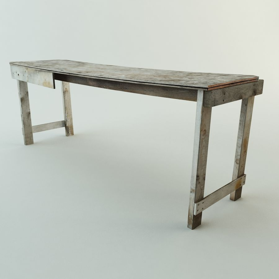 Super Old Workbench Table 3D Model 30 Unknown Obj Max Fbx Evergreenethics Interior Chair Design Evergreenethicsorg