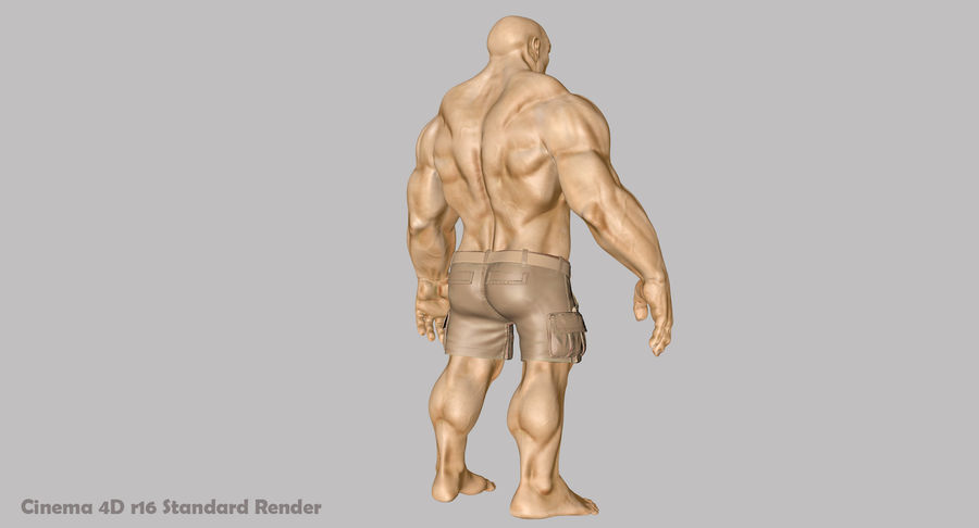 Muscular Man 1 3D Model $39 -  unknown  c4d  max  ma  blend