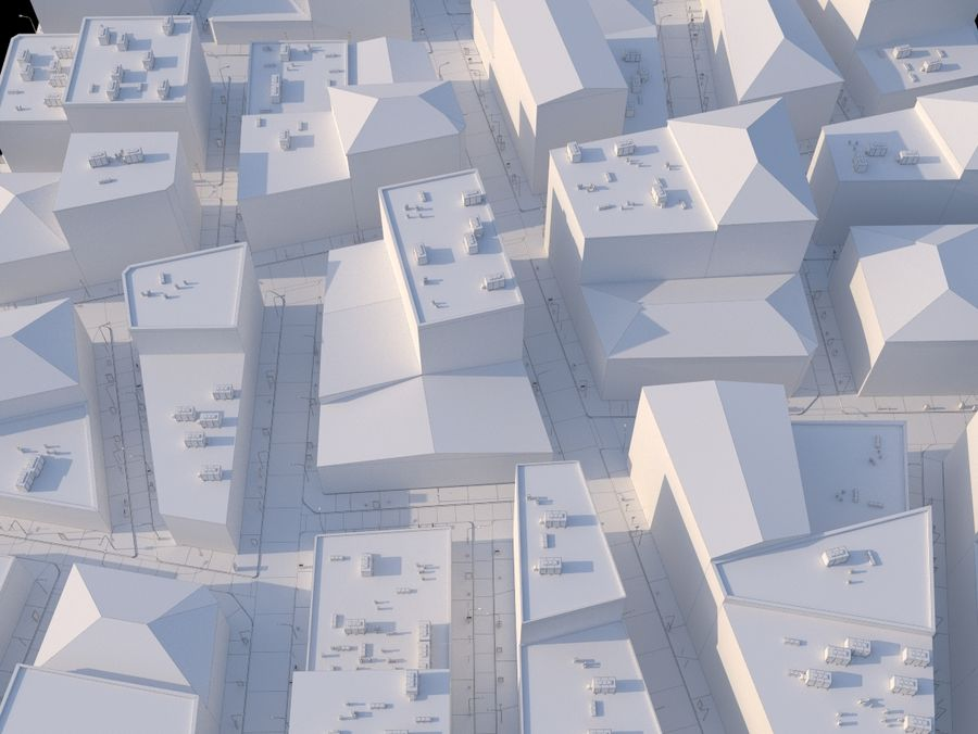 City low poly royalty-free 3d model - Preview no. 13