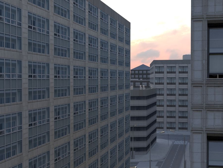 City low poly royalty-free 3d model - Preview no. 10
