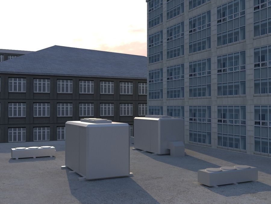 City low poly royalty-free 3d model - Preview no. 11